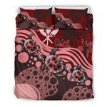 Hawaii Bedding Set - Red Turtle Hibiscus A24