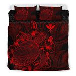 Polynesian Bedding Set - Hawaii Duvet Cover Set Red Color - Bn39