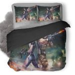 Fighter Girl And Boy With Big Guns Duvet Cover Bedding Set