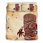 Hawaii Bedding Set, Tiki Palm Tree Duvet Cover And Pillow Case K5