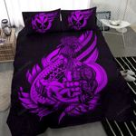 Polynesian Bedding Set - Hawaii Duvet Cover Set Father And Son Purple - Bn39