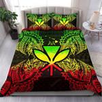Polynesian Bedding Set - Hawaii Duvet Cover Set Map Reggae - Bn39