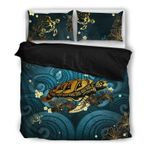 Hawaii Turtle Bedding Set, Honu Hibiscus Duvet Cover And Pillow Case H21