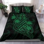Polynesian Duvet Cover Set - Green Pineapple - Bn12