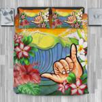 Hawaii Tropical Bedding Set, Shaka Duvet Cover And Pillow Case J8