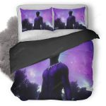 Black Panther Galaxy Night Landscape Fanart Duvet Cover Bedding Set