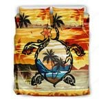 Hawaii Turtle Coconut Tree Bedding Set - Ah - J4