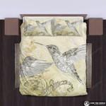 Hawaii Bedding Set, Hummingbird Duvet Cover And Pillow Case K5