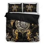 Hawaii Bedding Set, Tribal Turtle Tiki Sun God Duvet Cover And Pillow Case H4