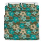 Hawaii Camo Bedding Set, Hibiscus Duvet Cover And Pillow Case K5