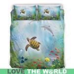 Hawaiian Bedding Set Hawaii Duvet Covers & Pillows Ocean Turtle 12 H9