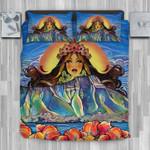 Hawaii Bedding Set, Hibiscus Papa Goddess Duvet Cover And Pillow Case J8