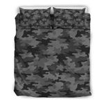 Black And Grey Camouflage Cl16100055mdb Bedding Sets