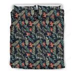 Hawaii Bedding Set, Tropical Leaf Strelitzia Duvet Cover And Pillow Case J7