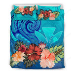 Kanaka Maoli (hawaiian) Bedding Set Hibiscus Blue Polynesian Th5