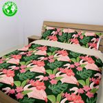 Hawaii Tropical Bedding Set, Flamingo Duvet Cover And Pillow Case Bn04