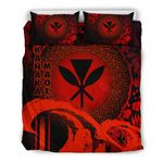 Kanaka Maoli Bedding Set - Hibiscus And Wave Special Red K7