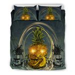 Hawaii Halloween Bedding Set, Pineapple Tiki Duvet Cover And Pillow Case Th7