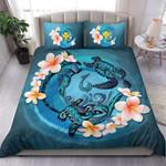Hawaii Bedding Set, Blue Plumeria Animal Turtle Tattoo  A24