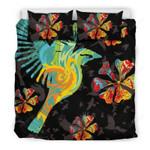 Hawaii Bedding Set, Hibiscus Hummingbird Duvet Cover And Pillow Case  Bn