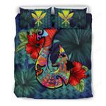 Kanaka Maoli (hawaiian) Bedding Set -polynesian Fish Hook Hibiscus A24