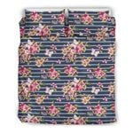 Hawaii Tropical Bedding Set, Butterfly Duvet Cover And Pillow Case J7