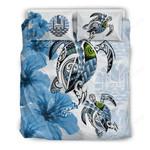 Tahiti Bedding Set - Polynesia Turtle Hibiscus Blue A24