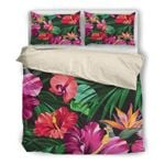 Hawaii Bedding Set, Tropical Duvet Cover And Pillow Case