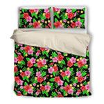 Hawaii Bedding Set, Tropical Duvet Cover And Pillow Case N1