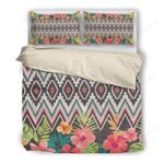 Hawaii Tribal Bedding Set, Tropical Duvet Cover And Pillow Case H4