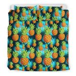 Hawaii Pineapple Bedding Set, Palm Leaf Duvet Cover And Pillow Case A7