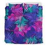 Palm Leaves Bedding Set - Neon Color - Bn09