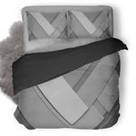 Material Design Grey Duvet Cover Bedding Set Ng1410