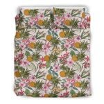 Hawaii Pineapple Bedding Set, Tropical Duvet Cover And Pillow Case J7