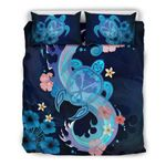 Hawaii Blue Turtle Hibiscus Bedding Set A02