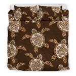 Hawaii Turtle Bedding Set, Honu Plumeria Duvet Cover And Pillow Case H1