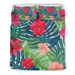 Colorful Hawaii Floral Pattern Print Duvet Cover Bedding Set