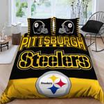 Pittsburgh Steelers Bedding Set Sleepy (Duvet Cover & Pillow Cases)