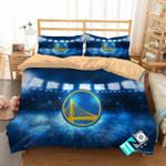 3d Nba Golden State Warriors Logo Bedding Set (Duvet Cover & Pillow Cases)