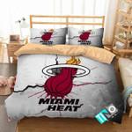 Nba Miami Heat Logo 3d Printed Duvet Cover Bedding Set