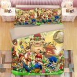 3d  Super Mario Bros   Duvet Cover