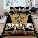 New Orleans Saints Bedding Set Sleepy (Duvet Cover & Pillow Cases)