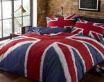 Union Jack Flag Duet Cover Bedding Sets