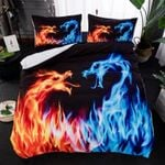 Dragon Fire And Water Bedding Set (Duvet Cover & Pillow Cases)