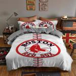 Boston Red Sox Bedding Set Sleepy (Duvet Cover & Pillow Cases)