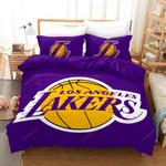 NBA Lakers Logo Basketball Duvet Cover Bedding Set