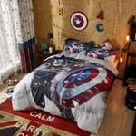 Bedding Set Captain America Marvel Comics Bed (Duvet Cover & Pillow Cases)