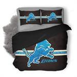 Nfl Detroit Lions 3d Logo Printed Bedding Set (Duvet Cover & Pillow Cases)