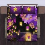 Tangled Night Sky Romantic Scene 3D Printed Bedding Set