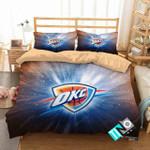 Nba Oklahoma City Thunder 3 Logo 3d Duvet Cover Bedding Sets